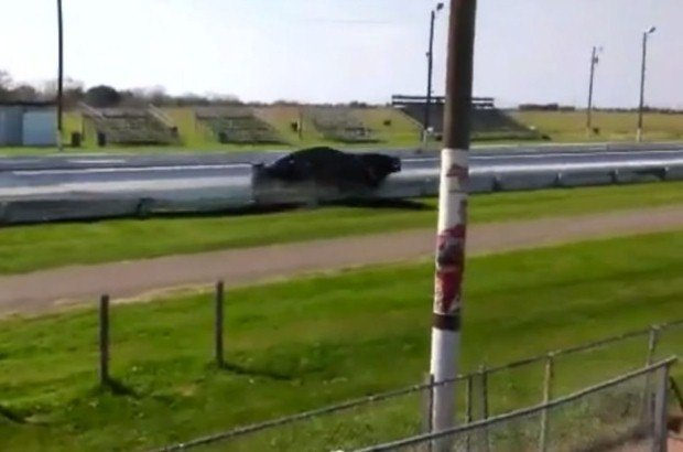 Nissan GT-R crash drag