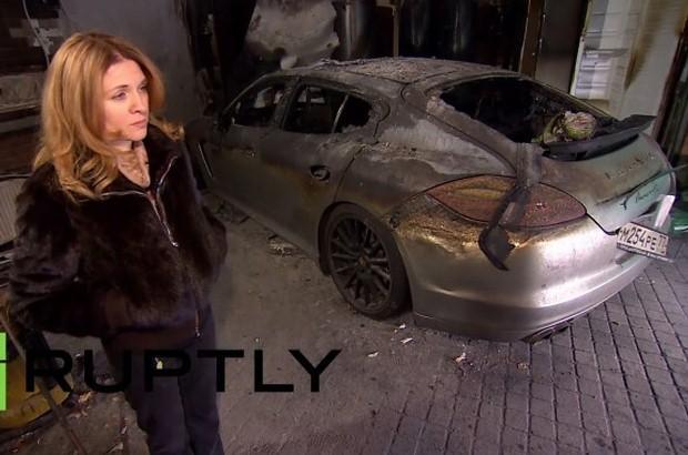 Porsche Panamera Fire