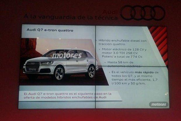 Audi Q7 e-tron leaked