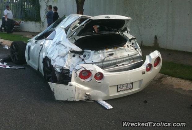 Nissan GT-R Wypadek
