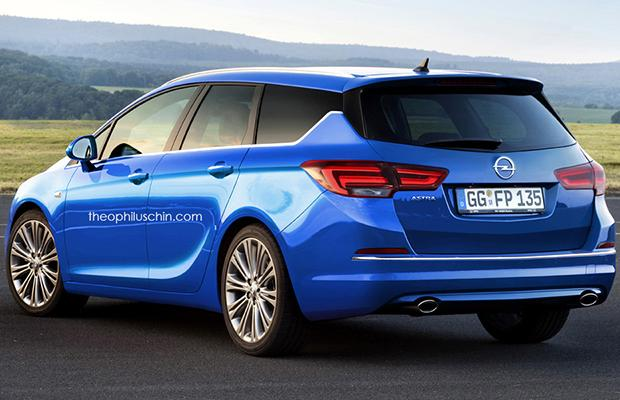 Opel Astra Sports Tourer rendering
