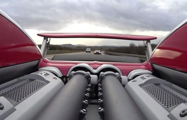 Bugatti Veyron autobahn