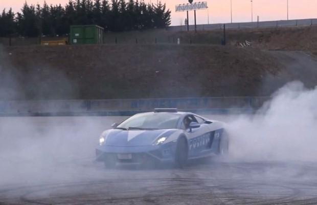 Lamborghini Gallardo Police burnout