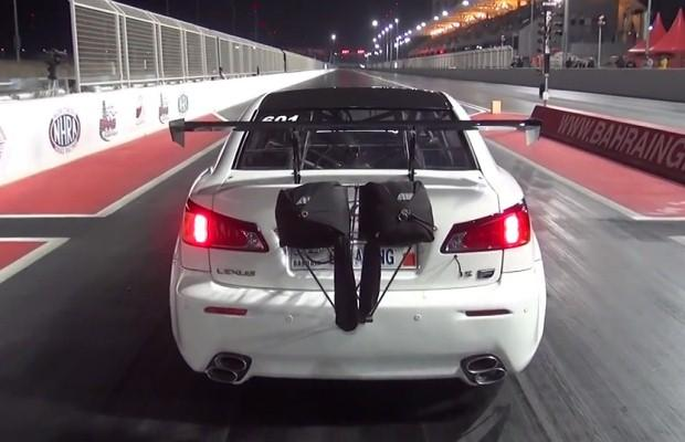 Lexus IS F drag race
