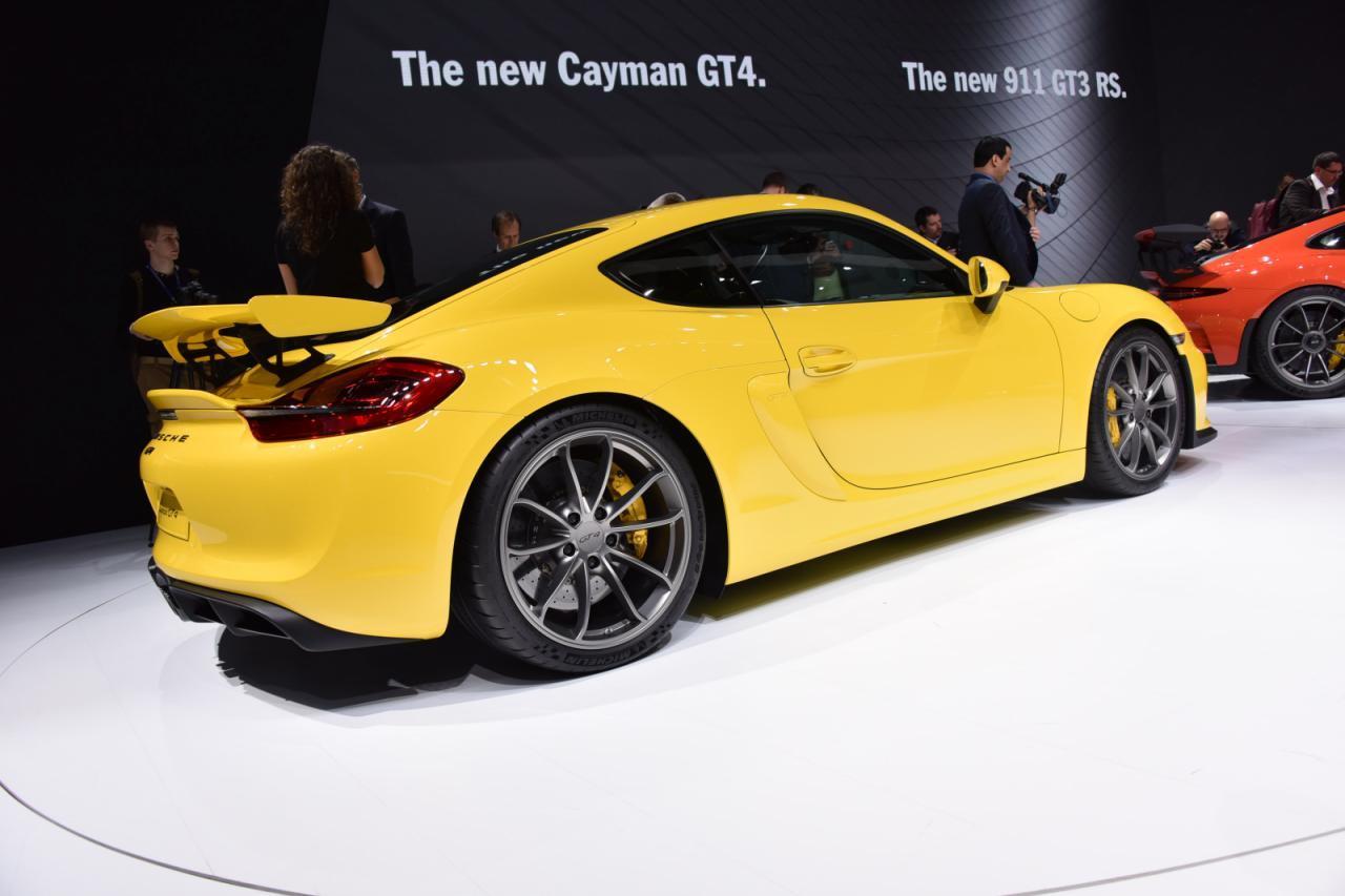 Porsche Cayman GT4 Genewa 2015