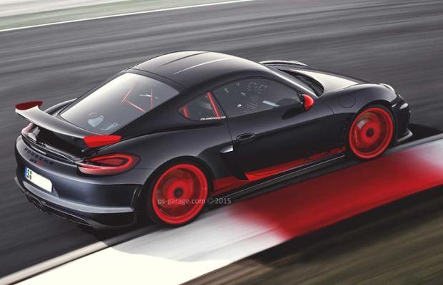 Porsche Cayman GT4 RS render