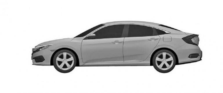 Honda Civic Sedan 2016 Patent