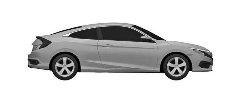 Honda Civic Coupe 2016 Patent