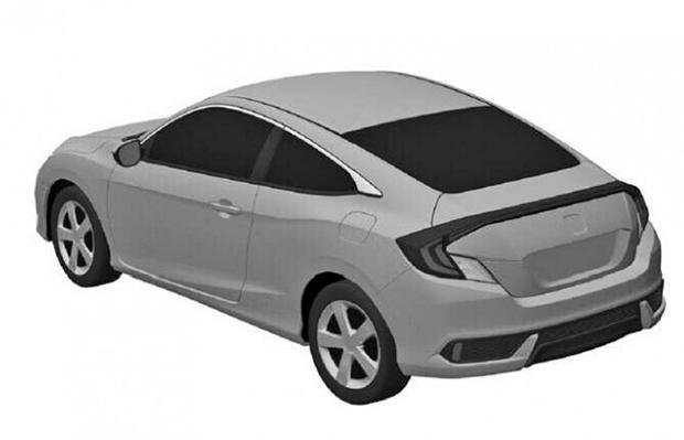 Honda Civic Coupe 2016 patent