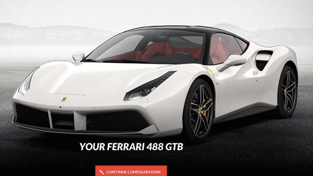 Ferrari 488 GTB konfigurator