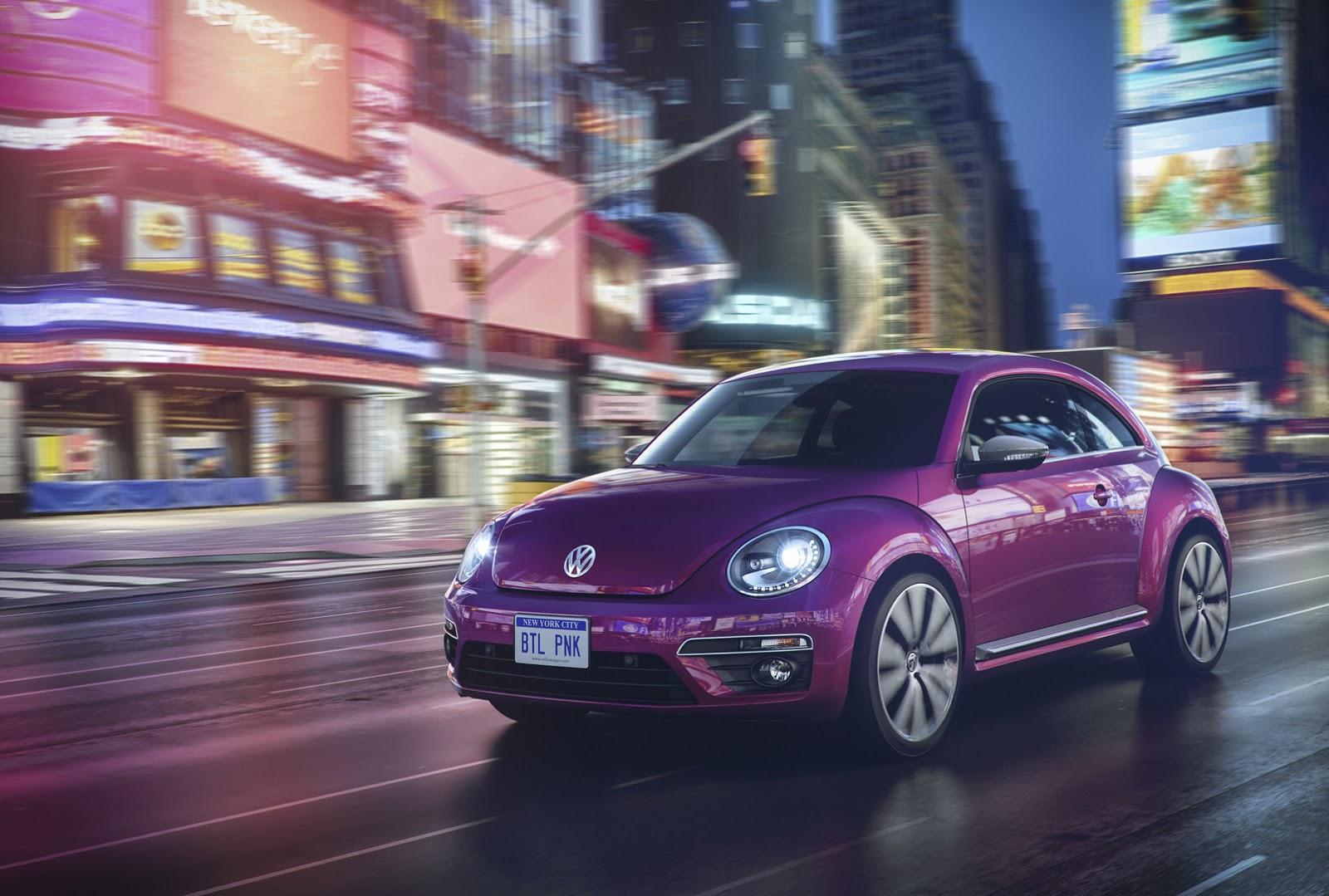 VW Beetle Pink Color Edition Concept