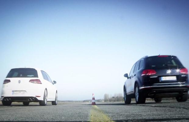 VW Golf R vs. VW Touareg V8 TDI