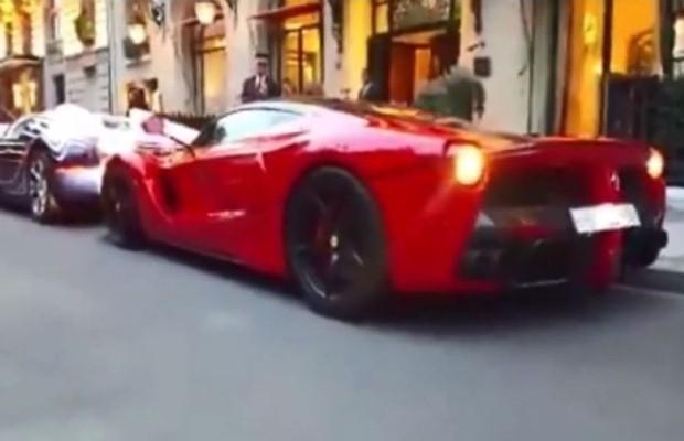 Veyron vs LaFerrari crash