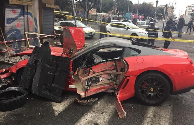 ferrari 599 gtb crash