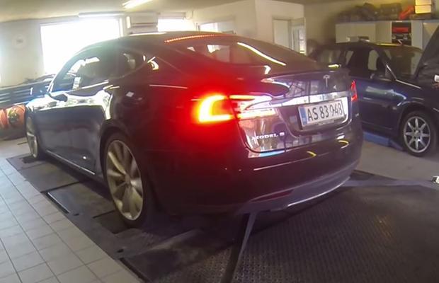 Tesla Model S P85D dyno
