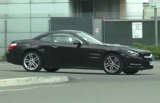 Mercedes SL 2016 Facelift spy