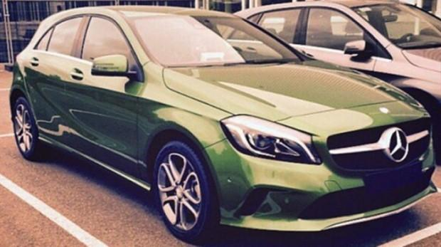 Mercedes klasy A 2015 facelift green