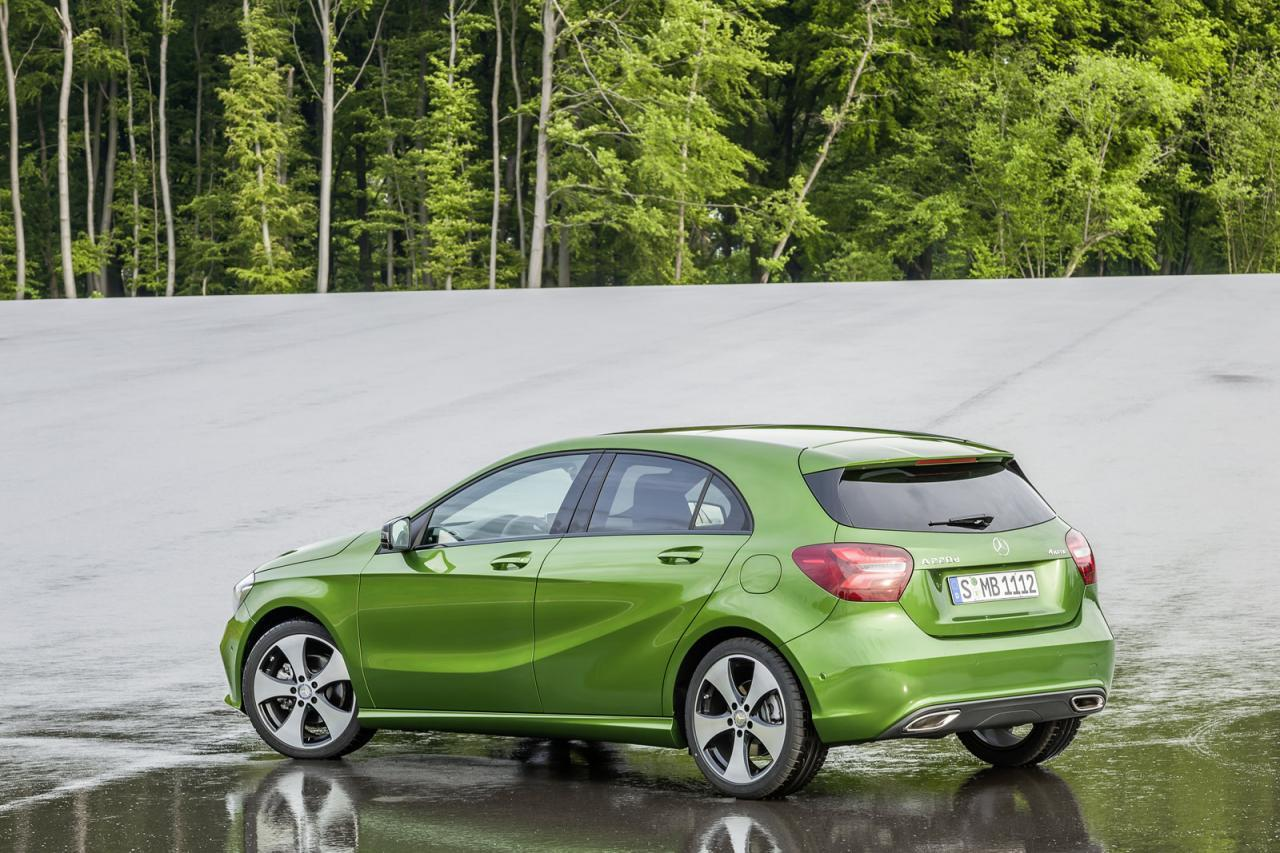 Mercedes A 2016 Facelift green