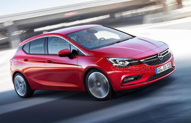 Opel Astra 2016 leaked