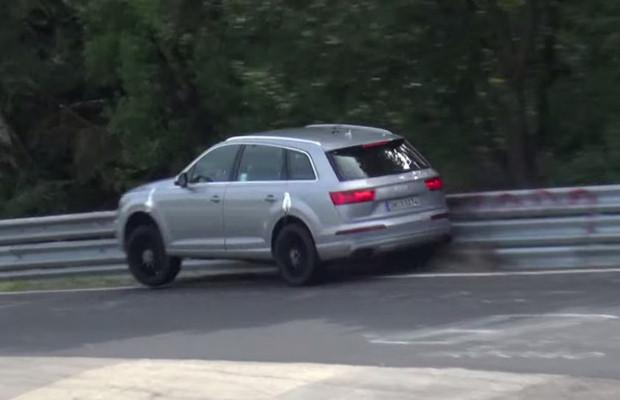 Audi SQ7 crash Nurburgring