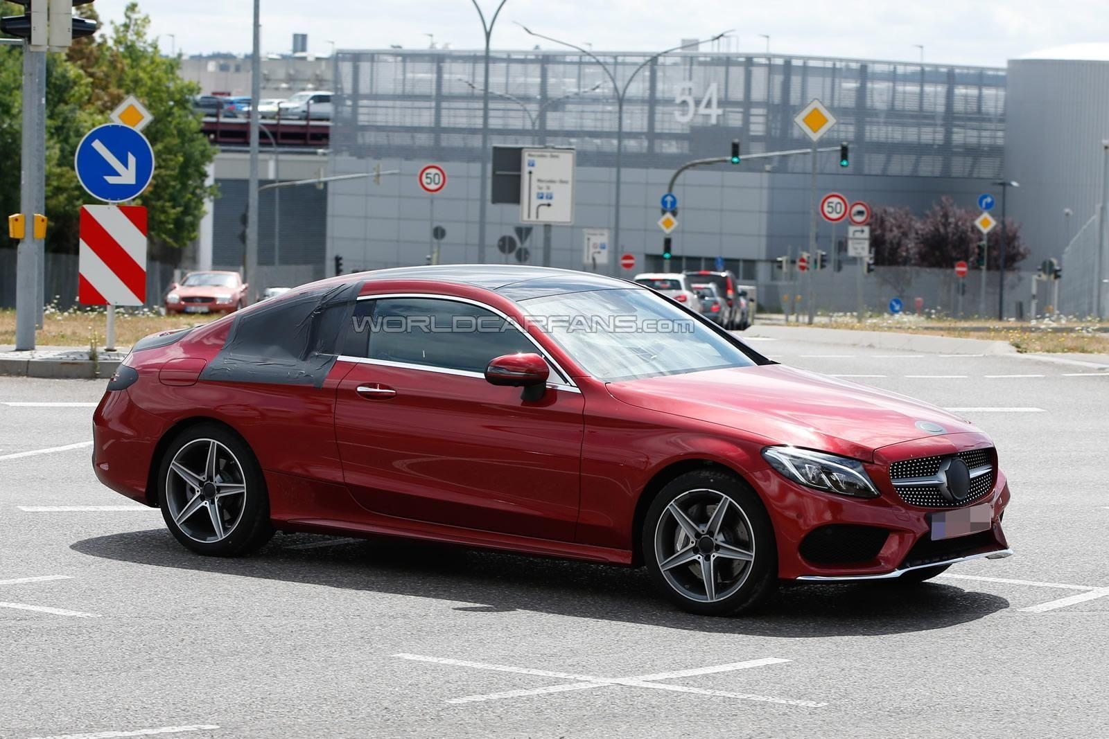 Mercedes-Benz C Coupe spy