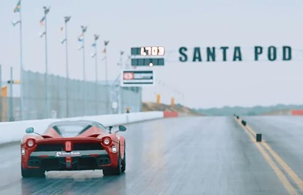 Ferrari Laferrari drag race