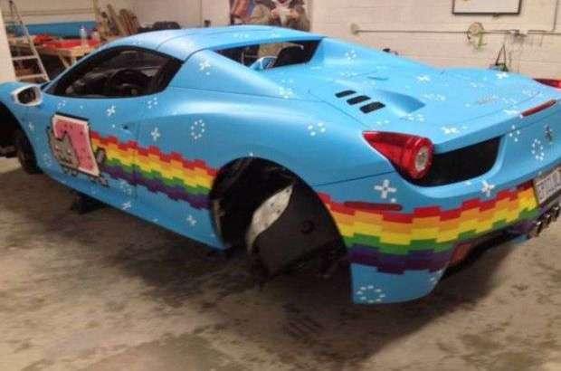 Ferrari 458 Spider crazy