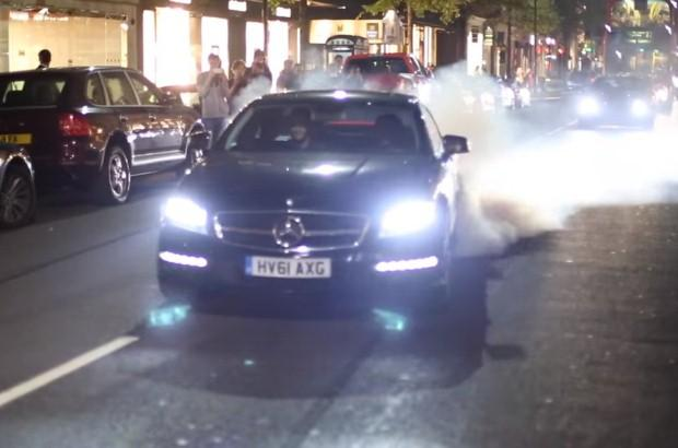 Mercedes CLS 63 AMG burnout