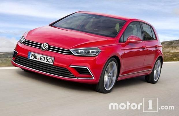 Volkswagen Golf VIII Rendering