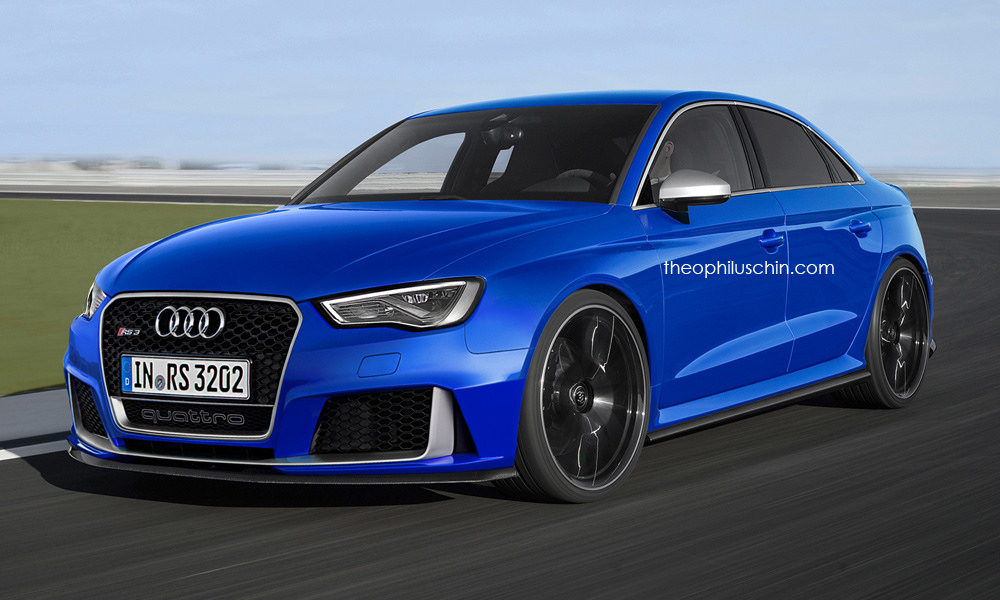 Audi RS3 Limousine rendering
