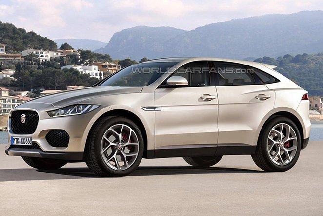 Jaguar E-Pace rendering