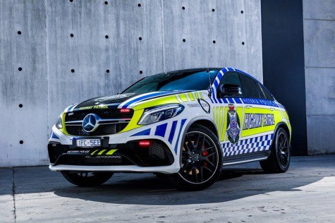 Policyjny Mercedes