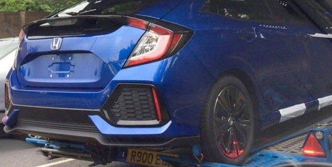Honda Civic 2017 przyłapana