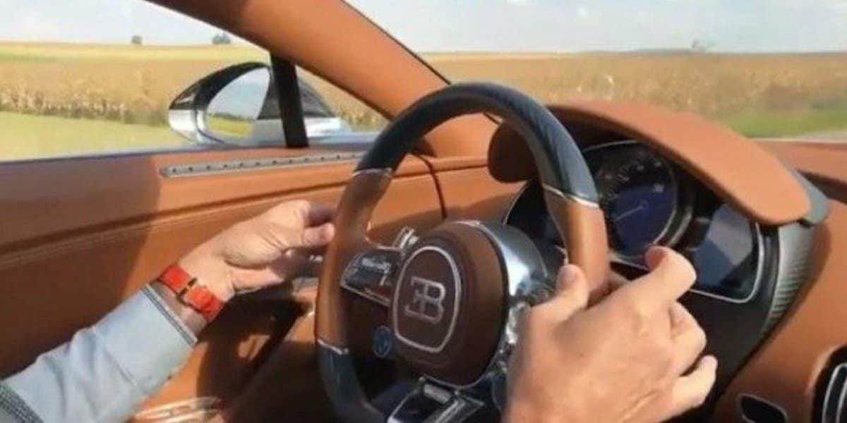Bugatti Chiron: przyspieszenie, onboard