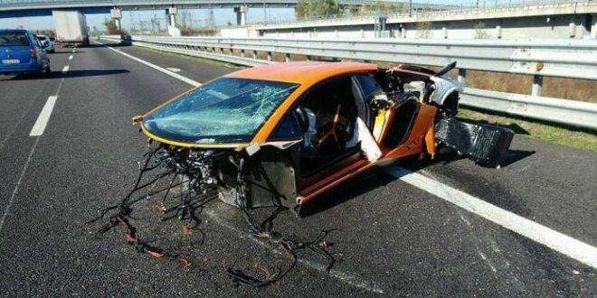 Lamborghini Aventador SV całkowicie rozbite we Włoszech