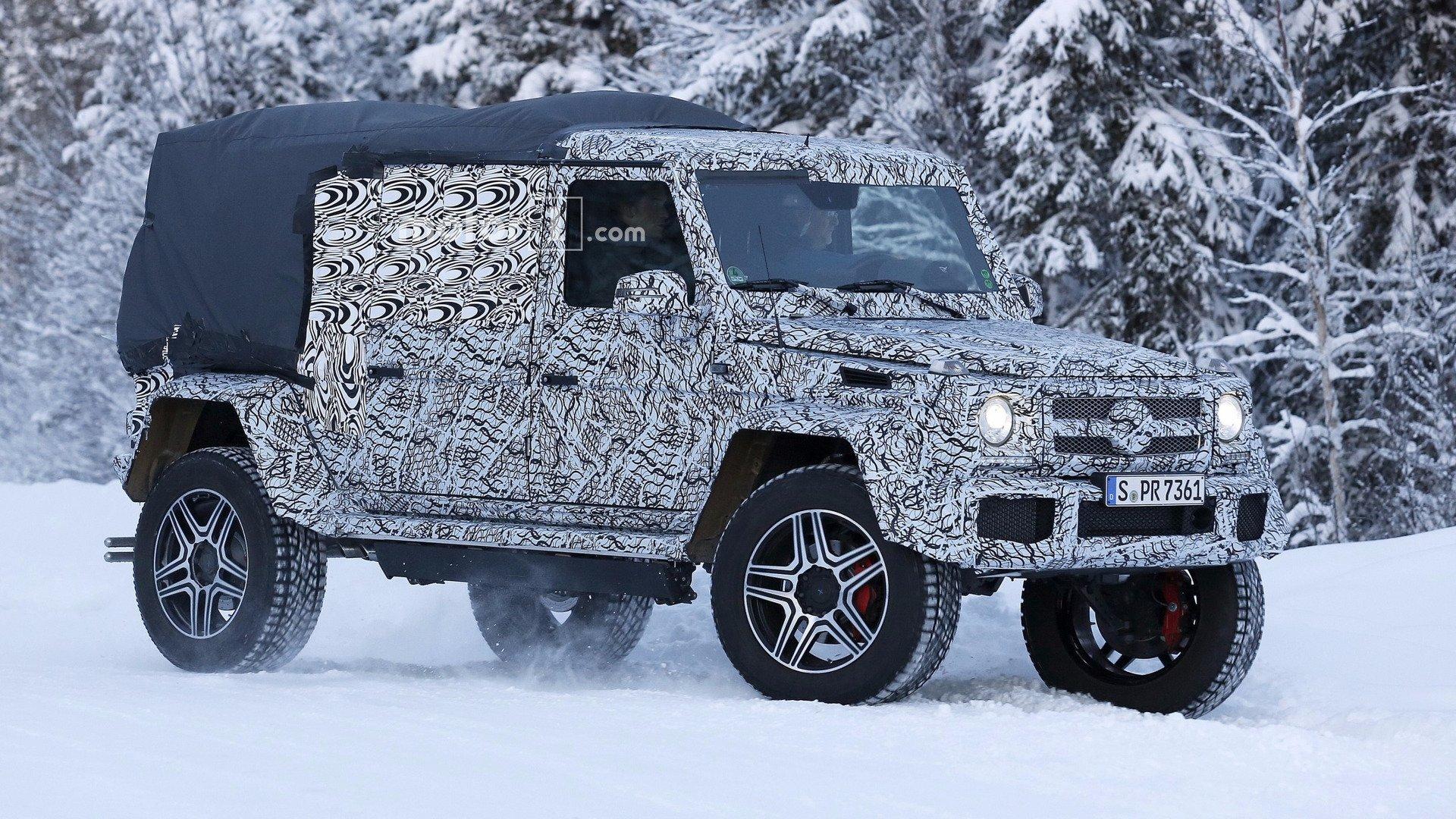 2018 mercedes g 4x4 pickup spy