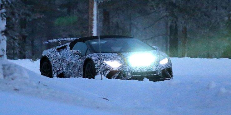 Lamborghini Huracan Spyder Performante Spyshot