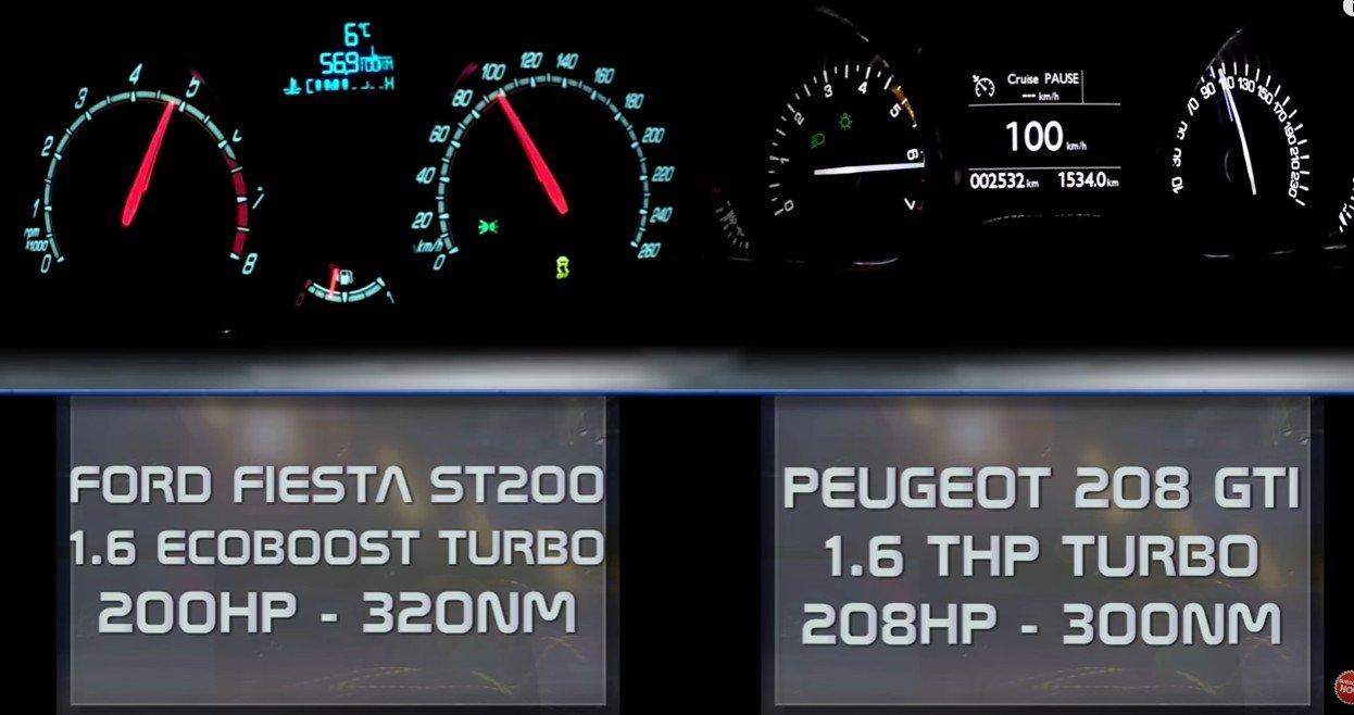 Ford Fiesta ST200 vs. Peugeot 208 GTI