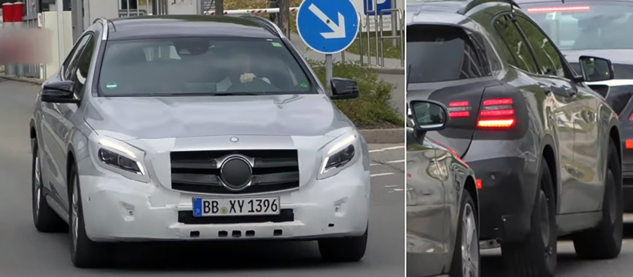Mercedes-Benz GLA facelifting spyshot