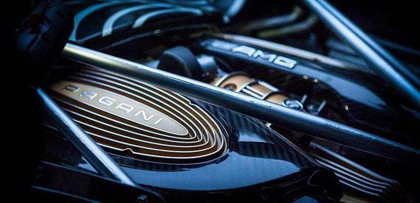 pagani huayra roadster engine teaser
