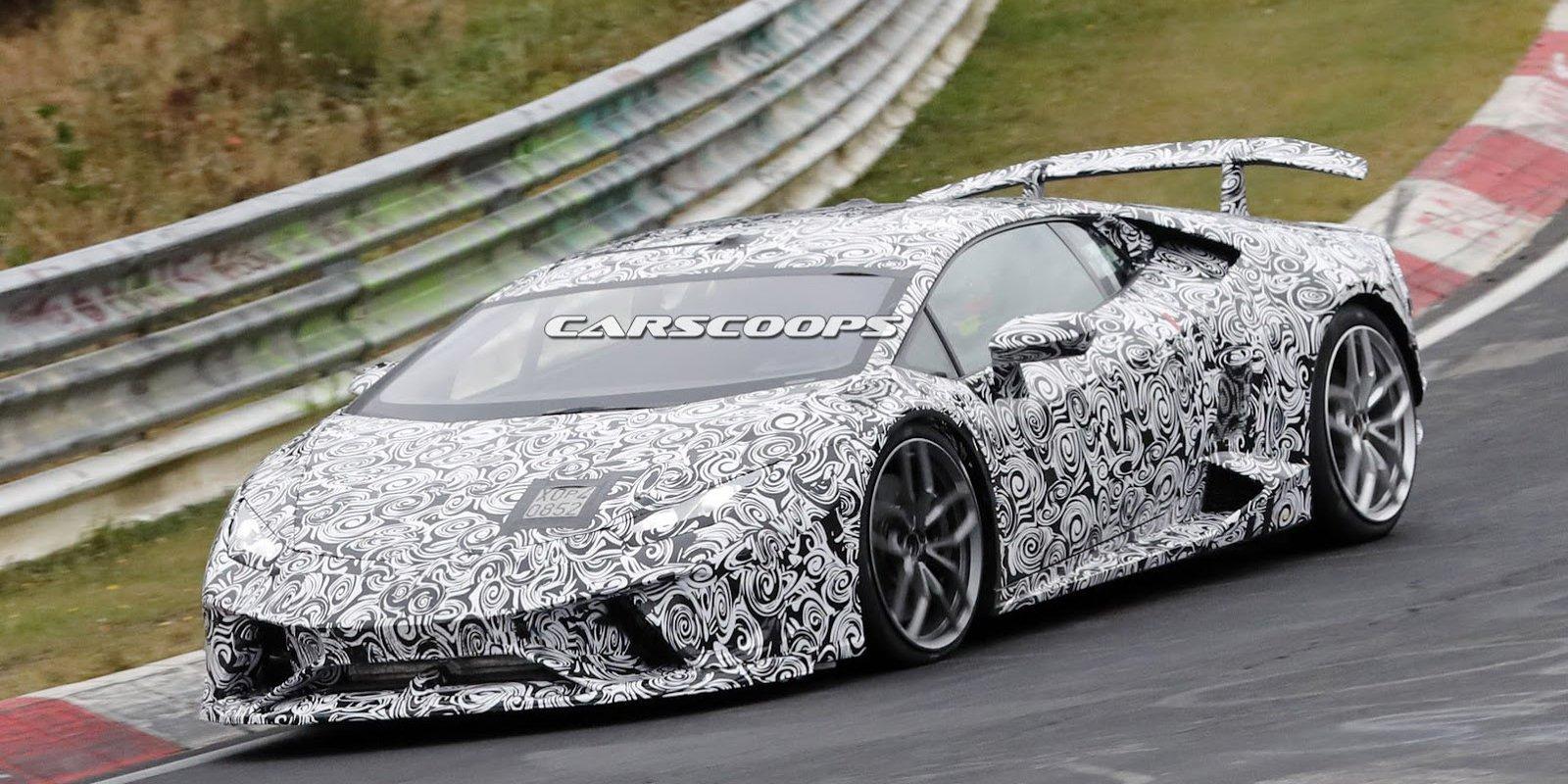 Lamborghini Huracan Performante spyshot