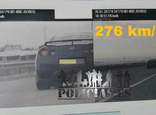 Nissan GT-R fotoradar