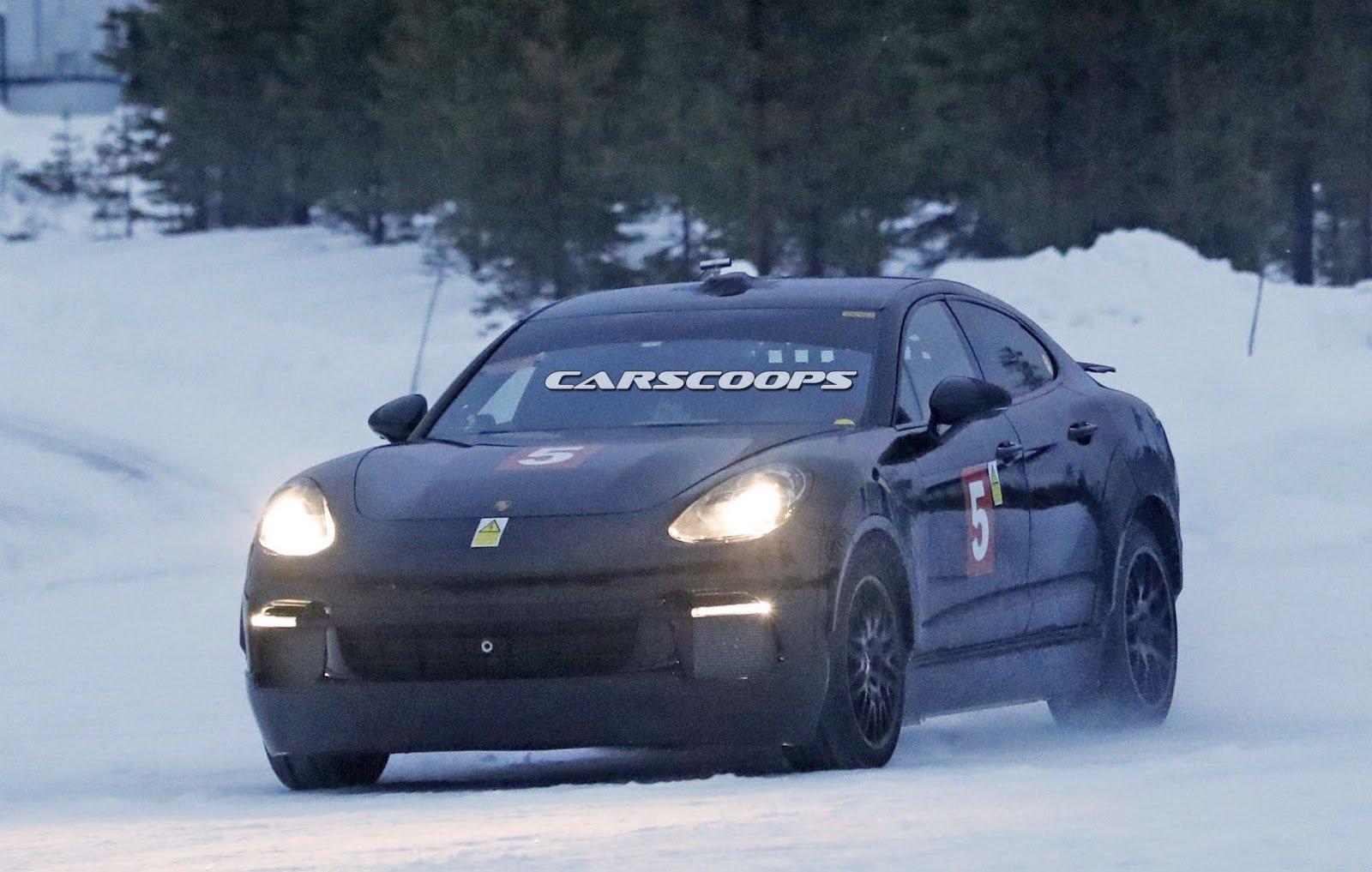 Porsche Mission E mule