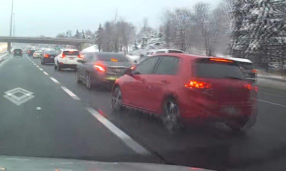 Volkswagen Golf GTI crash