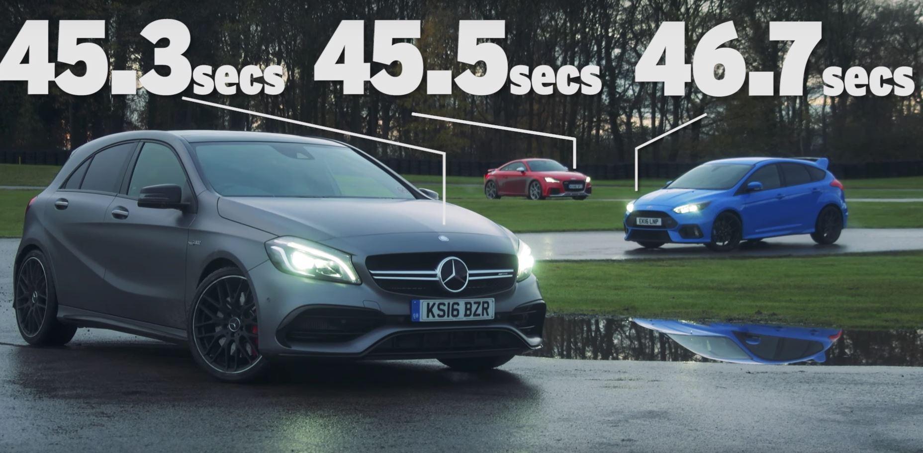 Audi TT RS vs. Mercedes-AMG A45 vs. Ford Focus RS