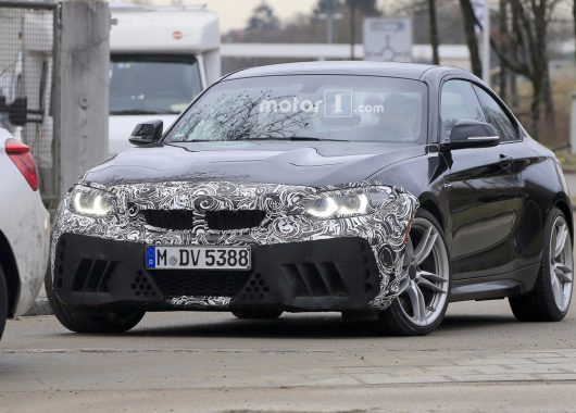 BMW M2 2018 facelift spy