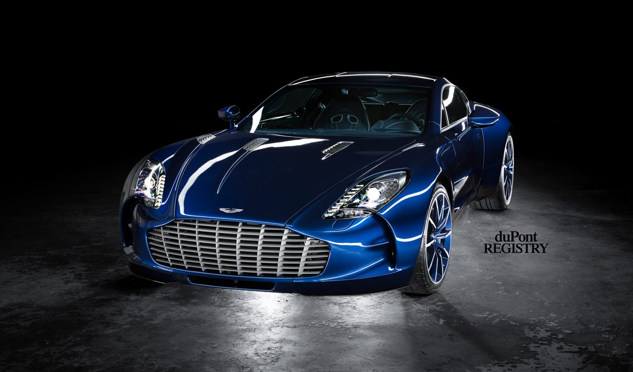 Aston Martin One-77 blue