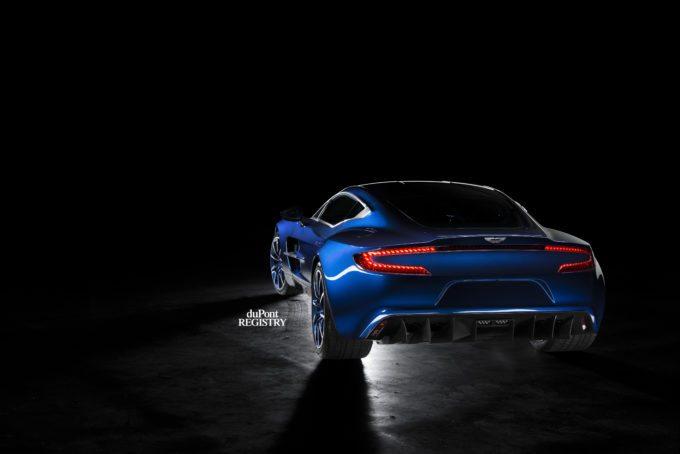 Aston Martin One-77 blue