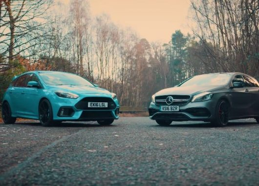 Ford Focus RS Mountune kontra Mercedes A45 AMG