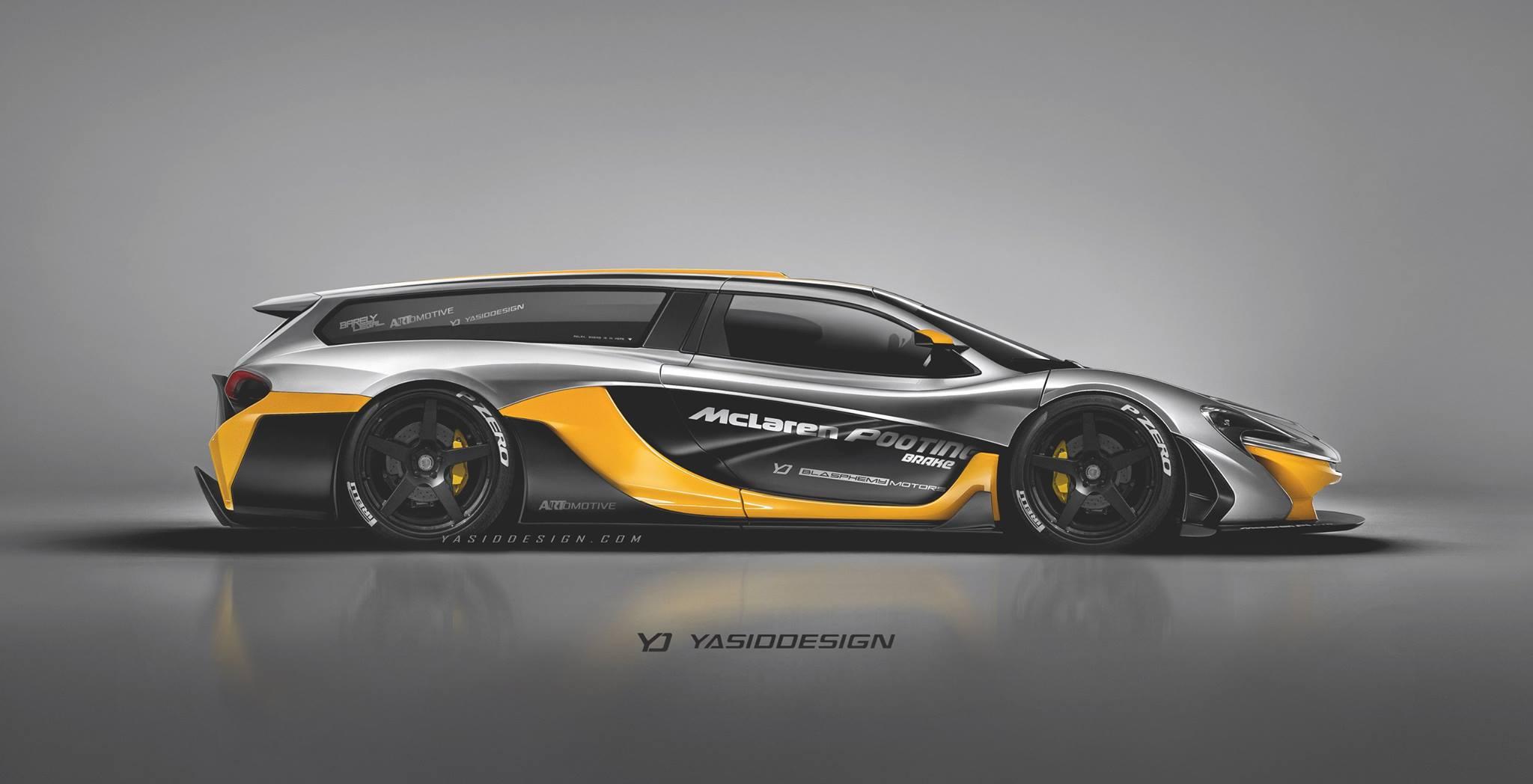 McLaren P1 GTR Shooting Brake rendering
